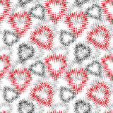 Seamless pattern. Stylish print with modern abstract hearts.  Stock Photography