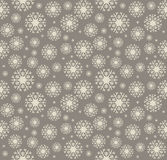 Seamless pattern with stylish snowflakes Royalty Free Stock Photography