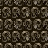 Seamless pattern with stylish spiral curls. Vector monochrome te Royalty Free Stock Photo