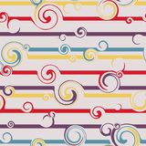 Seamless pattern with stylish spiral curls. Vector texture.  Stock Images