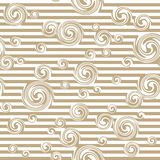Seamless pattern with stylish spiral curls. Vector texture Royalty Free Stock Image