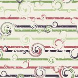 Seamless pattern with stylish spiral curls. Vector texture. Grun Royalty Free Stock Image