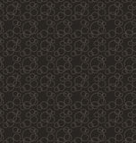 Seamless Pattern Stylish Texture with Interlacing Rings Stock Image