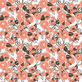 Seamless pattern with stylization peach. Seamless pattern with stylization branches of peach. Vector illustration for textile - pillow, t-shirts, towels Royalty Free Stock Photos