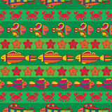 Seamless pattern with stylize fishes Royalty Free Stock Photography