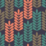 Seamless pattern with stylized branches. Colorful background Royalty Free Stock Photos