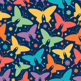 Seamless pattern with stylized butterflies. Stock Photos