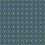 Seamless pattern with stylized celtic geometric ornament in green, blue and pink colors, vector royalty free stock photo