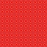 Seamless pattern with stylized celtic geometric ornament in living coral and red colors, vector stock photo