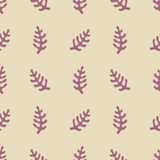 Seamless pattern with stylized elements. Vector background for design Royalty Free Stock Images
