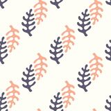 Seamless pattern with stylized elements. Vector background for design Stock Photography