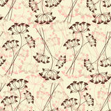 Seamless pattern of stylized flowers. Royalty Free Stock Image