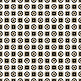Seamless pattern of stylized flowers in circles and squares. Royalty Free Stock Photo