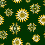 Seamless pattern with stylized flowers. Endless floral texture Stock Photo