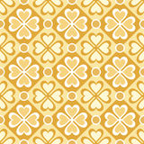 Seamless pattern of stylized flowers and geometrical shapes Royalty Free Stock Images