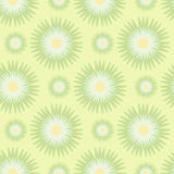 Seamless pattern of stylized flowers in yellow-green and olive colors. Vector illustration. Royalty Free Stock Photography