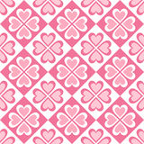 Seamless pattern of stylized hearts and geometrical shapes Royalty Free Stock Photos