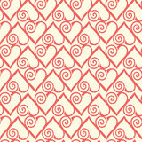 Seamless pattern with stylized hearts. Romantic Stock Image