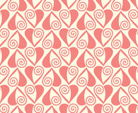 Seamless pattern with stylized hearts. Romantic Royalty Free Stock Photography