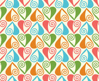 Seamless pattern with stylized hearts. Romantic Royalty Free Stock Photo