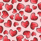 Seamless pattern with stylized hearts Stock Image