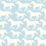 Seamless pattern with stylized horses Royalty Free Stock Photo