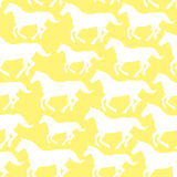 Seamless pattern with stylized horses Stock Photography