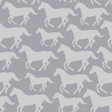 Seamless pattern with stylized horses Royalty Free Stock Photos