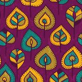 Seamless pattern with stylized leaves. Royalty Free Stock Image