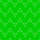 Seamless pattern of stylized leaves Royalty Free Stock Images