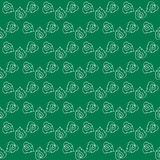 Seamless pattern of stylized leaves Stock Image