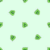 Seamless pattern of stylized leaves Stock Photos