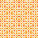 Seamless pattern with stylized maple leafs Royalty Free Stock Images