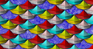 Seamless pattern with stylized paper boat Royalty Free Stock Photography