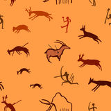 Seamless pattern with stylized prehistoric image Royalty Free Stock Image