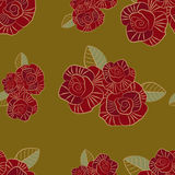 Seamless pattern of the stylized rose Royalty Free Stock Photography