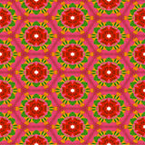 Seamless pattern with stylized roses Stock Images