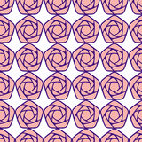 Seamless pattern with stylized roses Stock Photo
