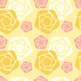 Seamless pattern with stylized roses Stock Photos