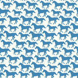 Seamless pattern with stylized silhouette horses Royalty Free Stock Photography