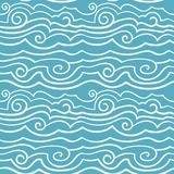 Seamless pattern with stylized simple waves. Vintage. Background. Vector illustration. Eps-8 Stock Image
