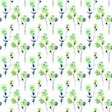 Seamless pattern with Stylized Summer flowers Royalty Free Stock Photo