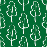 Seamless pattern of stylized trees Stock Photography