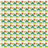 Seamless pattern with stylized tullips Stock Photo