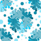 Seamless pattern, stylized wreath of petals. Vector seamless pattern, stylized wreath of petals, shades of blue Royalty Free Stock Image