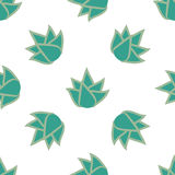 Seamless pattern with succulent flowers Royalty Free Stock Image