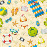 Seamless pattern with summer accessories Royalty Free Stock Photography