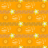 Seamless pattern. Summer background Stock Photos