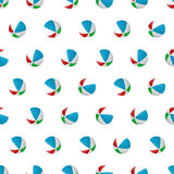 Seamless pattern summer beach ball background with template in swatches for your convenience. Easy to use. Stock Photography