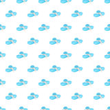 Seamless pattern summer beach bonnet background with template in swatches for your convenience. Easy to use. Cartoon flat style illustration royalty free illustration